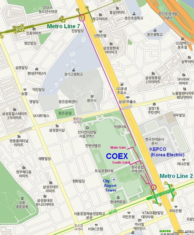 Seoul Subway Map English 2014.Getting To Coex A Photo Essay Koreatesol