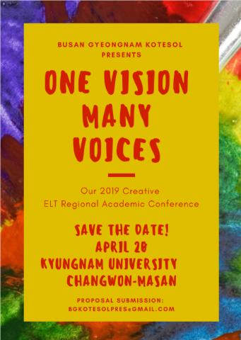 Busan-Gyeongnam KOTESOL 2019 Conf poster
