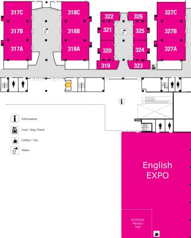 Floorplan at COEX for KOTESOL 2015 International Conference & English Expo
